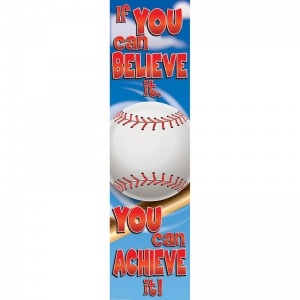 Baseball Motivational Banner, 4'