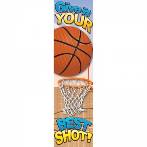 Basketball Motivational Banner, 4'