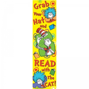 Dr. Seuss Grab Your Hat Vertical Banner