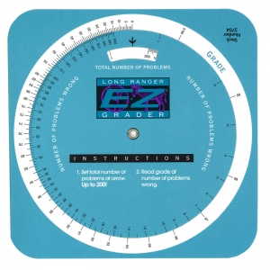 E-Z GRADER CIRCULAR LONG RANGER  SCORE UP TO 200 QUESTIONS