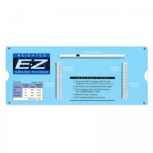E-Z GRADER WEIGHTED GRADE FINDER  PROVIDES WEIGHTED & FINAL GRADES