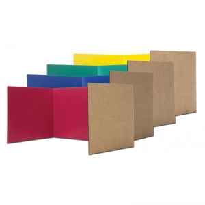 CORRUGATED STUDY CARREL ASSORT 24PK  12H X 48W