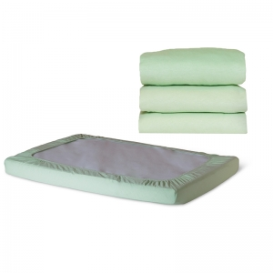SafeFit Elastic Fitted Sheet, Compact-Size, Mint