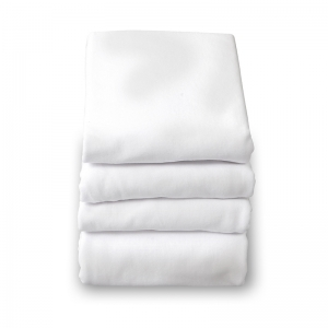 SafeFit Elastic Fitted Sheet, Compact-Size, White