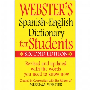 WEBSTERS SPANISH ENGLISH DICTIONARY  FOR STUDENTS