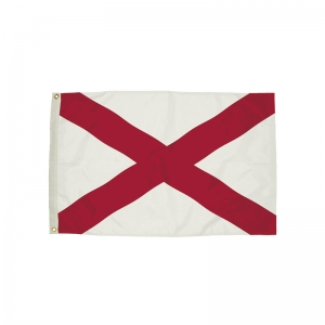 3x5' Nylon Alabama Flag Heading & Grommets