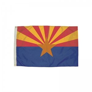 3x5' Nylon Arizona Flag Heading & Grommets