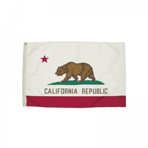 FlagZone Durawavez Nylon Outdoor Flag with Heading & Grommets, California, 3' x 5'