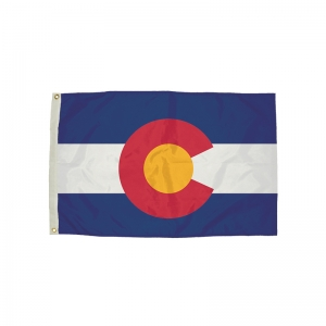 FlagZone Durawavez Nylon Outdoor Flag with Heading & Grommets, Colorado, 3' x 5'