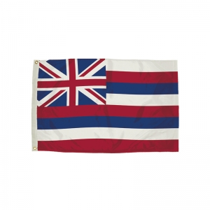 3x5' Nylon Hawaii Flag Heading & Grommets