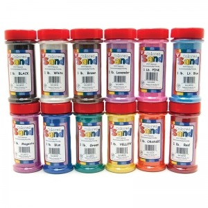 BUCKET O SAND 12 ASSTD COLORS 1 LB  EACH