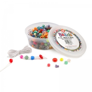 Bucket O� Beads, Multi-Mix, Asstd Sizes, 4 oz