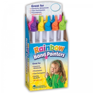RAINBOW HAND POINTERS 10/SET POP  DISPLAY