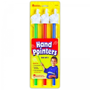 HAND POINTERS 3-SET ASSORTED COLORS