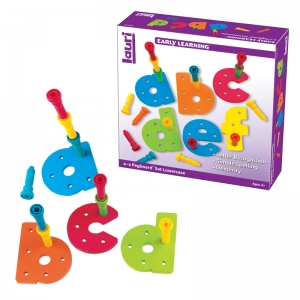 Tall-Stackers� Pegs a to z Pegboard� Set, Lowercase