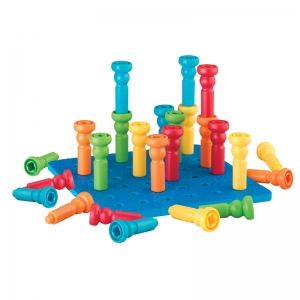 Tall-Stackers Pegs & Pegboard Set