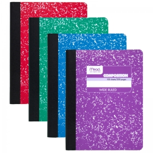COMPOSITION BOOK FASHION COLORS  ASSORTED