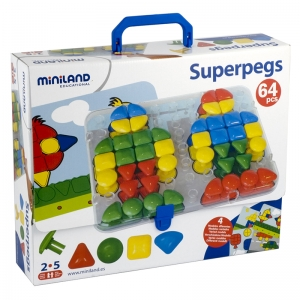 Miniland Super Pegs, 69 Pieces