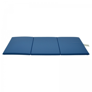 "Mahar Standard 1"" x 24"" x 48"" 3-Section Blue Rest Mat"