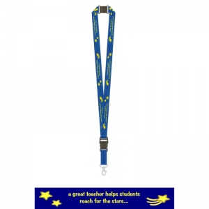 TEACHER LANYARDS A GREAT TEACHER  HELPS STUDENTS REACH FOR THE STARS