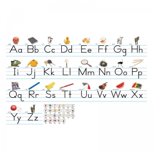 Alphabet Lines - Photo Traditional Manuscript Bulletin Board Set