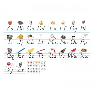 Alphabet Lines - Photo & Modern Manuscript Bulletin Board Set
