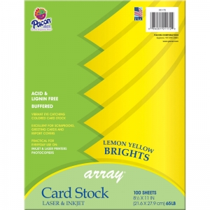ARRAY CARD STOCK BRIGHTS LEMON  YELLOW