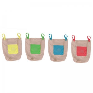 Cotton Canvas Jumping Sacks, Set of 4