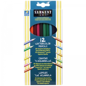 Sargent Art� Watercolor Pencils, 12 Colors