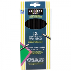 Sargent Art� Construction Paper Colored Pencils, 12 colors