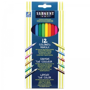 Sargent Art� Colored Pencils, 12 colors