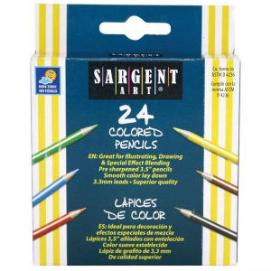 Sargent Art� Half Size Colored Pencils, 24 colors