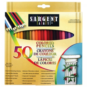 Sargent Art� Colored Pencils, 50 colors