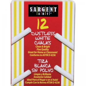 Sargent School Grade Dustless Chalk, White