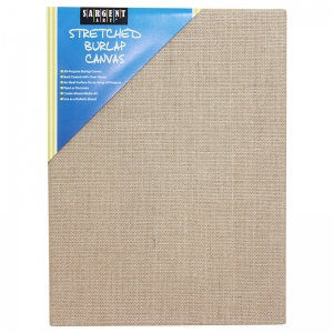 "Sargent Art Stretched Canvas, Burlap, 12"" x 16"""