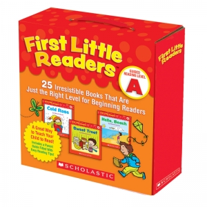 Scholastic First Little Readers Book Parent Pack, Guided Reading Level A, Set of 25 Books