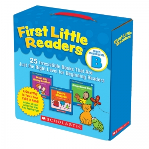 Scholastic First Little Readers Book Parent Pack, Guided Reading Level B, Set of 25 Books
