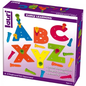 Tall-Stackers Pegs A to Z Pegboard Set Uppercase