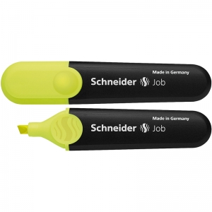 SCHNEIDER JOB HIGHLIGHTERS CHISEL  TIP FLUORESCENT YELLOW