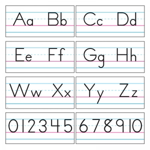 Basic Alphabet Zaner-Bloser Manuscript Bulletin Board Set