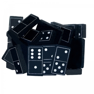 Foam Dominoes: Black