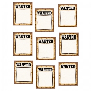 Western Wanted Posters Accents