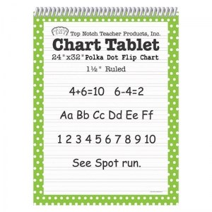 POLKA DOT CHART TABLET GREEN 1.5  RULED