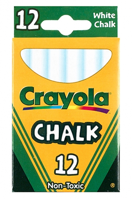 12 STICKS - TUCK BOX WHITE CHALK