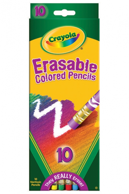 ERASABLE COLORED PENCILS 10 COLOR  SET
