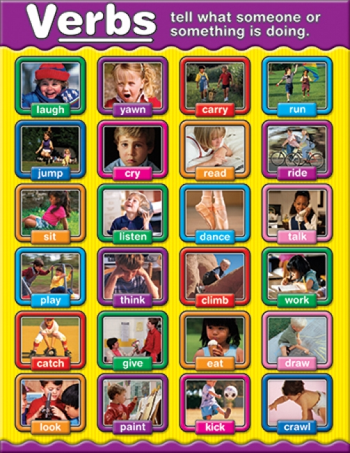 VERBS PHOTOGRAPHIC CHARTLETS  CURRICULUM GR 1-3