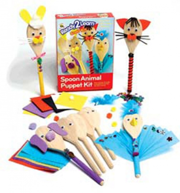 READY2LEARN CRAFT KIT SPOON ANIMALS