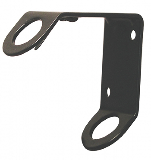 STAMPED STEEL FLAG BRACKET BLACK  ENAMEL FINISH