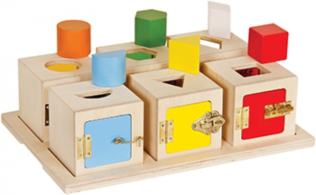 PEEKABOO LOCK BOXES SET OF 6