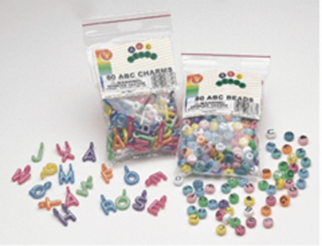 ABC BEADS 80PK FOR ARTS & CRAFT  PROJECTS